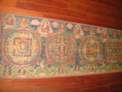 Tibet Monastery Tibetan Buddhist Thangka Tangka Painting:The Mandala of Buddha++