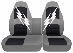Designcovers 40-60 Hi Back And Console Fit 93-04 F150 Lightning / Choose Color