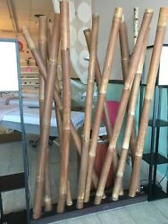 1 Used Bamboo Room Divider With Real Bamboo Trees . Easy Installation.
