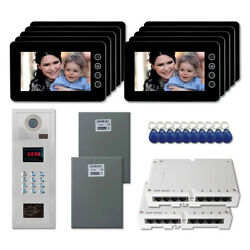 Intercom System Kit With 10 7 Color Monitor Multi Tenant Home Security Video