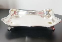 .1907-47 Vintage And Co Sterling Silver Large Asparagus Serving Dish Tray
