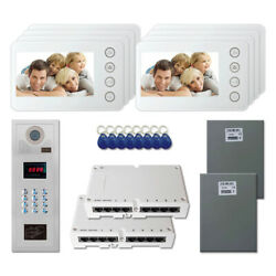 Office Security Video Intercom System Entry Door Kit With 8 5 Color Monitor