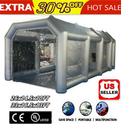 Portable Inflatable Spray Paint Booth Tent Car Workstation Filtration System