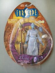 New 2000 Farscape Zhaan Figure W/trading Card Rare Toy Vault Toys-s63d