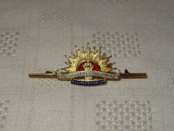 9ct Gold And Enamel Military Sweetheart Brooch Badge - Australian Commonwealth