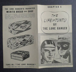 1940and039s Merita Bread The Life Of Tonto By Lone Ranger Chapter 5