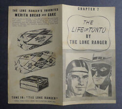 1940and039s Merita Bread The Life Of Tonto By Lone Ranger Chapter 7