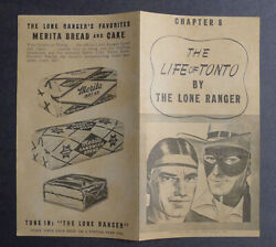 1940and039s Merita Bread The Life Of Tonto By Lone Ranger Chapter 8