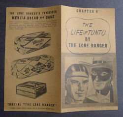 1940and039s Merita Bread The Life Of Tonto By Lone Ranger Chapter 9