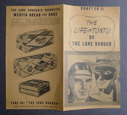 1940and039s Merita Bread The Life Of Tonto By Lone Ranger Chapter 11