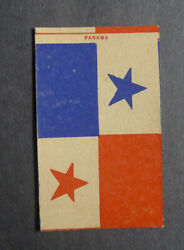 1940's Bell Super Soft Bread Flags Of Nations Card Panama