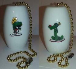 A Set Of 2 Marvin The Martian And K 9 Ceiling Light / Fan Pulls 1