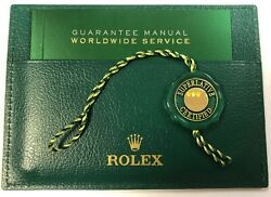 Rolex Five Year Warranty Set Holder Booklet And Swing-tag 2015-2020.