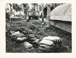 1944 Wwii Us Navy Vf-34 Sailor's Bouganville Photo 43 Dug Bomb Shelter