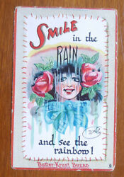1940and039s The Butter Krust Bread Postcard Smile In The Rain