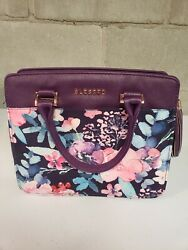 Blessed Bible Holder Handbag.  Pre-owned.  Purple Floral Design With...