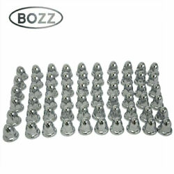 Trucks Trailers 60 Chrome Lug Nut Covers With Flanges For 33mm Lugs