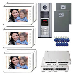 Building Door Camera Panel Video Intercom System Kit With 11 7 Color Monitor