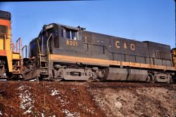 Chesapeake And Ohio Cando - U30b - 8201 - Original 35mm Slide