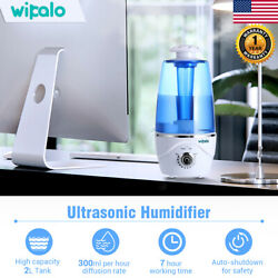 2L Aroma Essential Diffuser Ultrasonic Humidifier Warm Air Mist for Baby Room US