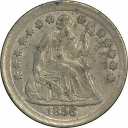 1856 Liberty Seated Silver Half Dime Au Slider Uncertified