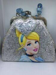 Vintage Traditions Disney Cinderella Bag Of Costume Jewelry Wallet Coin Purse