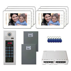Multi Tenant Door Security Video Intercom System Kit With 6 7 Color Monitor