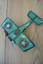 Vintage 1920's Chein And Co. Wind Up Tin Toy Airplane Plane.