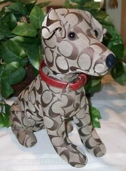 Coach Signature Stuffed Dog Jack Russell Terrier Toy JRT 8443 RedCollar