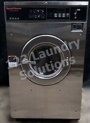 Speed Queen Front Load Washer Coin Op 35lb 208-240v S/n 100179441 [refurb]