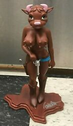 Cathy Cowgirl Brown Figure Rare Signed By Ron English Psa/dna