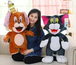 Tom And Jerry Plush Doll Soft Cute Stuffed Cartoon Toy Anime Cat And Mouse 2019