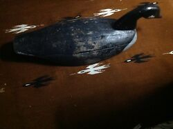Antique Canada Canadian Goose Decoy Old Folk Art Primitive 1920and039s Maine Swimmer