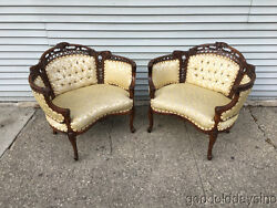 Wow Beautiful Pair Of Antique Carved French Style Chairs Chair