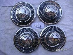 Chevrolet Motor Division Center Hubcaps 1968 - 1992  Very Good  My0791b'