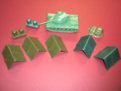 Tents Tank Accessories Army 1950's/1960's Marx Mpc Lot Military Toy Soldiers