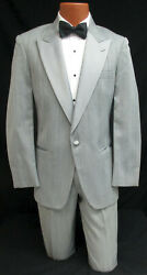 Menand039s Grey Dior Tuxedo With Pants And Shirt Gatsby Prom Bond 007 Spy Halloween 40r