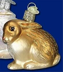 BROWN COTTONTAIL BUNNY RABBIT OLD WORLD CHRISTMAS GLASS ORNAMENT NWT 12192