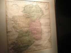 c. 1813 Antique Hand Colored Geographical & Statistical Map of Ireland Lavoisne