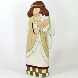 Midwest Of Cannon Falls Angel And Dove 12.5 Figurine Christmas Eddie Walker