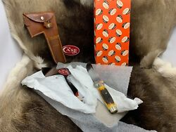Caseand039s Tested Xx Axe Knife Combo Set Stag With Leather Sheath Mint Pumpkin Box A
