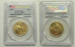 2009 25 1/2 Oz Gold Eagle Pcgs Ms70 First Strike Perfect Coin