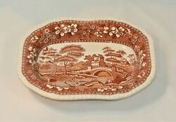 Spode English China Tower Brown Oval Serving Bowl 9 3/4 Inches
