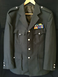 Greek Military Officer Uniform - Tunic And Trousers - Ribbon Bar With 11 Medals