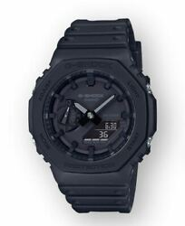 G-shock Menand039s Carbon Core Guard Structure Black Band Watch Ga2100-1a1