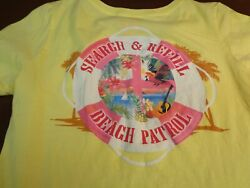 Jimmy Buffett Margaritaville Search  Refill Beach Patrol T-Shirt Women Medium Y5
