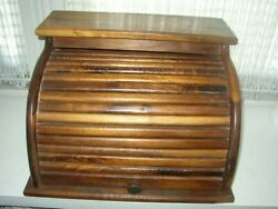 Vintage Roll-o-treasure Chest File Safe Bread Keeper