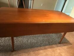 Drop Leaf Dining Table Conant Ball Mid Century Modern, 4 Chairs