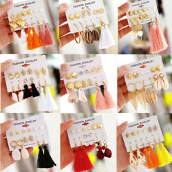 Bohemian Long Tassel Shell Earrings Set Women Girls Fashion Dangles Female Gifts