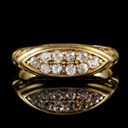 Antique Edwardian Diamond Ring 18ct Gold Dated 1904